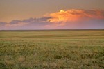 Thunderstorm over Great Plains prairie at Fort Pierre National Grassland, South Dakota, AGPix_0358