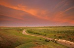 Sunset over Cheyenne River Valley in Buffalo Gap National Grassland, South Dakota, AGPix_0360