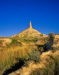 Chimney Rock National Historic Site, Landmark on Oregon Trail, Near Bayard, Nebraska  AGPix_0377
