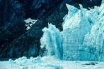 Ice calving from tidewater face of Margerie Glacier in Glacier Bay National Park, Alaska, AGPix_0392
