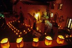 Luminarias, Christmas lights at Tlaquepaque Shopping Center, Sedona, Arizona, AGPix_0402
