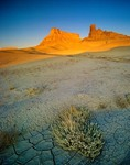 Factory Butte at sunrise, B. L. M. Lands near Caineville, Utah, AGPix_0410
