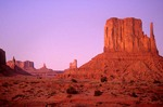Twilight at Monument Valley,Left Mitten Butte, Monument Valley Navajo Tribal Park, Arizona & Utah, AGPix_0418