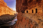 Ancient Anasazi Granaries at Nankoweap above Colorado River, Grand Canyon National Park, Arizona, AGPix_0429