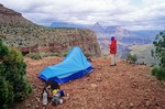 Campsite at Horseshoe Mesa below South Rim, Grand Canyon National Park, Arizona, AGPix_0441