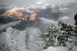 Winter storm at Grand Canyon, view from South Rim, Grand Canyon National Park, Arizona, AGPix_0442