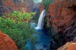 Havasu Falls on Havasu Creek in the Grand Canyon, Havasupai Indian Reservation, Arizona, AGPix_0444