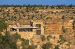 Lookout Studio, constructed of Kaibab Limestone on South Rim, Grand Canyon National Park, Arizona, AGPix_050