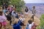 Park ranger gives talk to school children at Grand Canyon National Park, Arizona, AGPix_0451