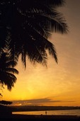 Sunset on Cabarete Beach East of Puerto Plata on Amber Coast, Dominican Republic, AGPix_0456