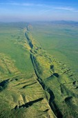 San Andreas Fault cuts across the Carrizo Plain at Carrizo Plain National Monument, west of Bakersfield, California, AGPix_0494