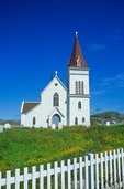 St. Andrews Anglican Church at small outport town of Fogo on Fogo Island, Newfoundland, Canada, AGPix_0515