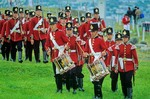 Reenactment of military drill by the Signal Hill Tattoo at St. Johns, Newfoundland, Canada, AGPix_0517