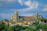 Basilica of Mary Magdelene at hilltop town of Vezelay, Burgundy, France, AGPix_0528