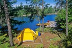 Canoe campsite on Sandburner Island, Sand Point Lake, Voyageurs National Park, Minnesota, AGPix_0535