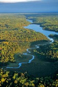 Cranberry Creek flows out of Locator Lake on Kabetogama Penninsula, Voyageurs National Park, Minnesota, AGPix_0541