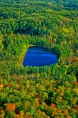 Glacial kettle lake in the Chippewa Moraine Country, Chippewa County, Wisconsin, AGPix_0567