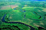 Meandering river with oxbow lakes on Big Sioux River near Westfield, Iowa, AGPix_0571