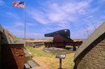 15 inch Radman Cannon at Fort Massachusetts on Ship Island, Gulf Islands National Seashore, Gulfport, Mississippi, AGPix_0639
