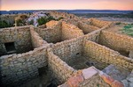 Atsinna Ruins, a Zuni indian pueblo on mesa top at El Moro National Monument, New Mexico, AGPix_0657