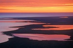 Sunset over arcitic coast of Chuckchi Sea and Krusenstern Lagoon at Cape Krusenstern National Monument, Alaska, AGPix_0713