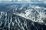 Aerial view of Romanzof Mountains part of the Brooks Range in the Arctic National Wildlife Refuge, Alaska, AGPix_0722