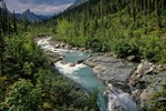 Arrigetch Creek flows through arctic valley in the Arrigetch Peaks region of the Brooks Range at Gates of the Arctic National Park, Alaska, AGPix_0727