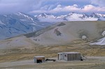 Baked Mountain cabin a hikers shelter in the Valley of Ten Thousand Smokes, Katmai National Park, Alaska, AGPix_0763