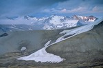 Broken Mountain with snowfields in Valley of Ten Thousand Smokes, Katmai National Park, Alaska, AGPix_0766
