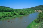 Canoeing party on Niobrara River, a National Wild and Scenic River, below Valentine, Nebraska, AGPix_0777
