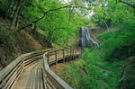 Smith Falls State Park, walkway from Niobrara River to waterfall, along river below Valentine, Nebraska, AGPix_0778