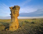Rock pinnacle near Hoyt Canyon in the Comanche National Grasslands on the High Plains of Baca County in Southeast Colorado, AGPix_0786