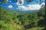 Mountainous landscape of the Corillera Central south of Jarabacoa, Dominican Republic, AGPix_0795