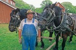 Farmer with team of draft horses at Living History Farms near Des Moines, Iowa, AGPix_0799