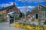 Candlestick Gift Shop with flower gardens in historic Amana Colonies at Amana, Iowa, AGPix_0800