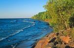 Shoreline of Lake Superior along Upper Peninsula near Silver City, Michigan, AGPix_0803