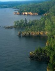 North Shore of Lake Superior with basalt cliffs at Tettegouche State Park, Minnesota, AGPix_0804