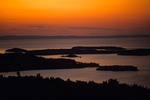 Sunrise Over Susie Islands at Grand Portage Indian Reservation on North Shore of Lake Superior, Minnesota, AGPix_0812