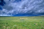 Thunderstorm over the High Plains along Highway 387 near Edgerton, Wyoming, AGPix_0863