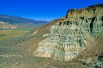Sedimentary rocks of the John Day Formation viewed from Flood of Fire Trail in the Foree area of John Day Fossil Beds National Monument, Oregon, AGPix_0869