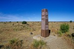 Monument at State Highest Point in Black Mesa Nature Preserve, North of Kenton, Oklahoma, AGPix_0884