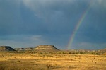 Prairie rainbow and mesa at Hitching Post Ranch, Cimarron County, Kenton, Oklahoma, AGPix_0887
