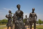 Statues of the Little Rock Nine on grounds of Arkansas State Capitol, Little Rock, Arkansas, AGPix_0893