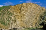Folded sedimentary rocks,