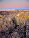 Rugged volcanic landscape at Captain Jacks Stronghold in Lava Beds National Monument, California