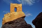 Stronghold House, an ancient puebloan indian ruin built atop a lone rock, circa 1200 AD, at Hovenweep Naitonal Monument, Utah, AGPix_1006