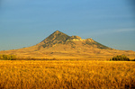 Bear Butte, a sacred site to many Native American groups, rising above the Great Plains near Sturgis, South Dakota, AGPix_1013