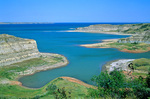 Cove on south shore of Lake Sakakawea, Ft Berthold Reservation, north of Beulah, North Dakota, AGPix_1048