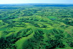 Loess Hills of Iowa, aerial view showing hills formed by wind blown soils, north of Sioux City, Iowa, IA_00087, AGPix_1052