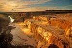 Grand Falls of the Little Colorado River at sunset, Navajo Nation east of Flagstaff, Arizona, AZ_10422, AGPix_1057